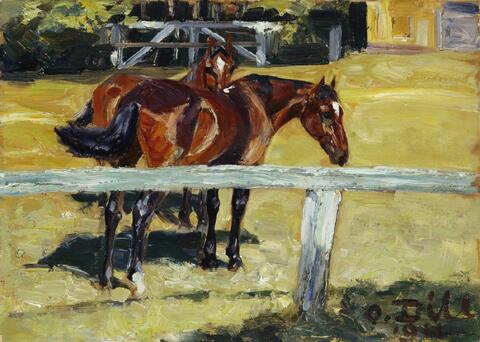 Otto Dill - Pferdekoppel