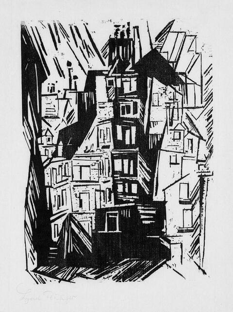 Lyonel Feininger - Pariser Häuser