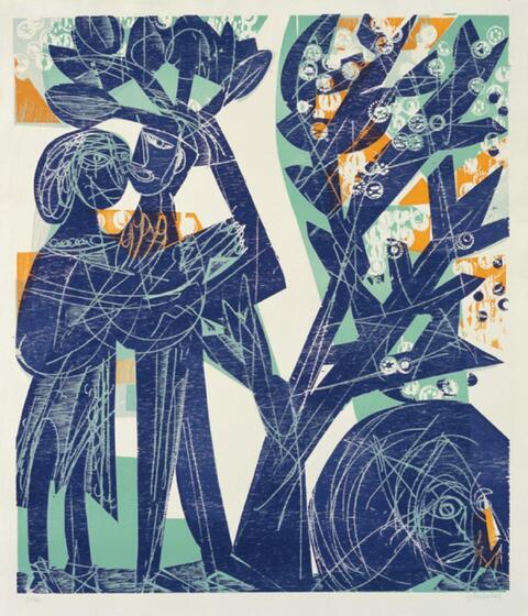 H.A.P Grieshaber - Das blaue Paar