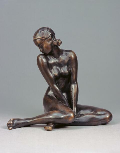 Fritz Klimsch - Sitzendes Mädchen