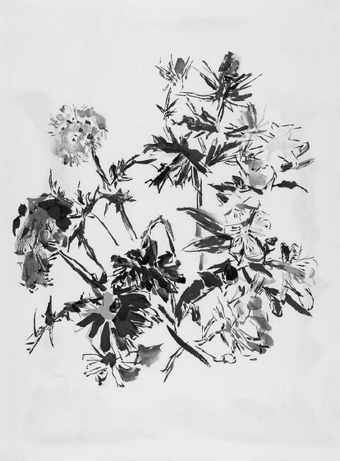 Oskar Kokoschka - Sommerblumenstrauss mit Mannstreu