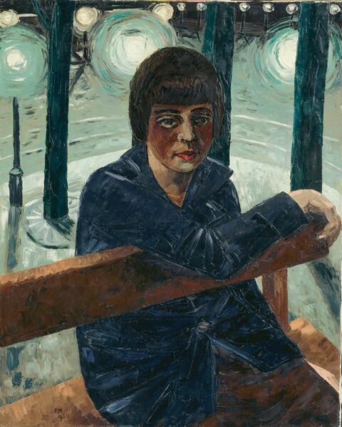 Frans Masereel - Sur le banc (Fille sur un banc)
