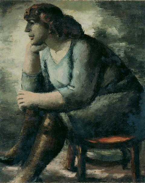 Frans Masereel - Femme assise