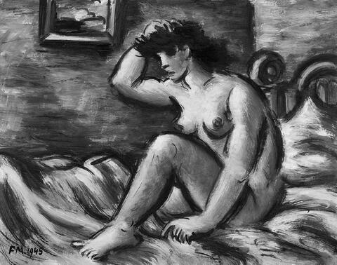Frans Masereel - Nu sur la couverture jaune