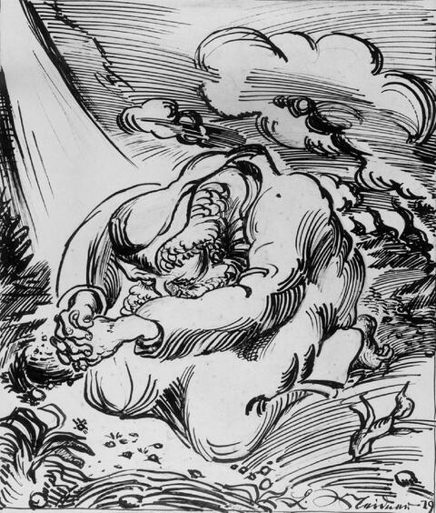 Ludwig Meidner - Betender Prophet