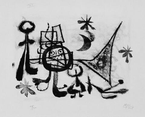 Joan Miró - Figuren und Gestirne