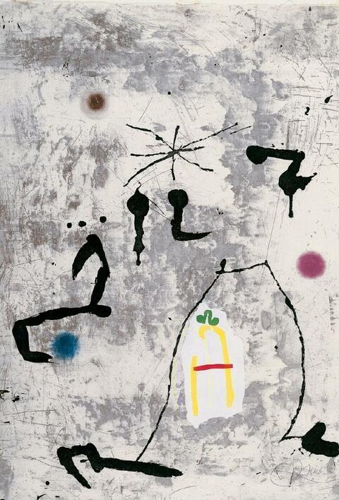 Joan Miró - Personatge i Estels V (Personne et étoile)
