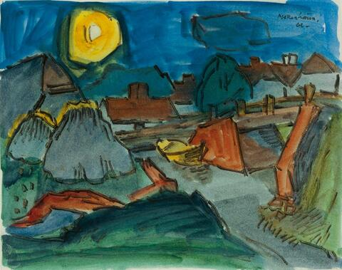 Ernst Mollenhauer - Mond über dem Dorf