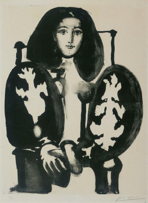 Pablo Picasso - Femme au Fauteuil No. 1