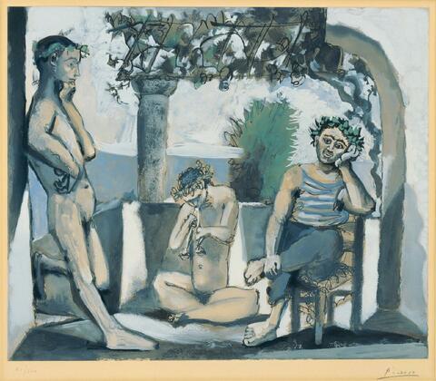 Nach Pablo Picasso - Bacchanten- Szene
