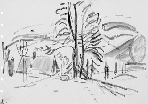 Hans Purrmann - Häuser unter Bäumen. Talblicke