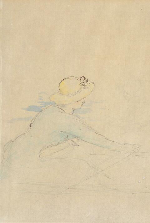 Pierre-Auguste Renoir - Jeune Femme en bateau