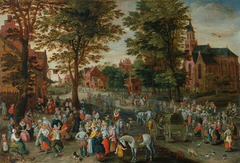 Jan Brueghel d. J. - SONNTAGSVERGNÜGEN IM DORF.