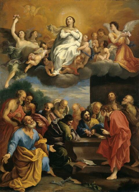 Guido Reni, Nachfolge - DIE AUFNAHME MARIENS IN DEN HIMMEL.