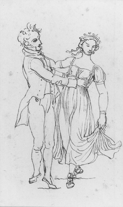Johann Gottfried Schadow - ZWEI ZEICHNUNGEN.