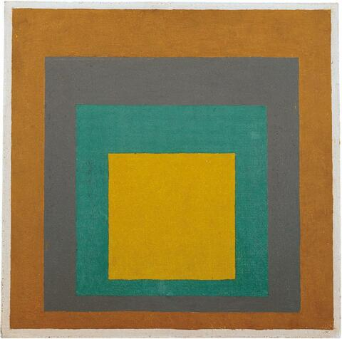 """Josef Albers - Study to Homage to the Square: """"Elected"""""""