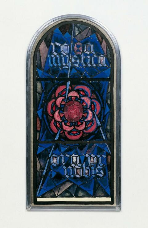 "Josef Albers - Entwurf ""Rosa Mystica"""
