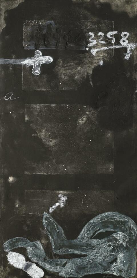 Antoni Tàpies - Signe sur porte