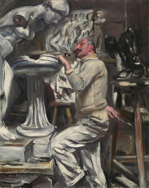 Lovis Corinth - Porträt des Bildhauers Nikolaus Friedrich