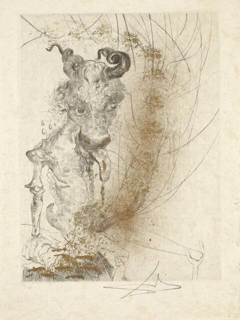 Salvador Dali Y Domenech - La Nuit de Walpurgis aus: Faust