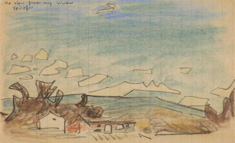 Lyonel Feininger - Der Blick aus meinem Fenster (Wolken über Connecticut)