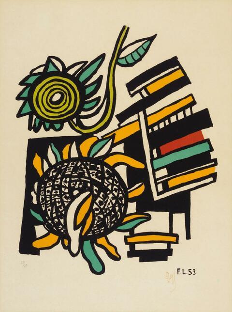 Fernand Léger - Les deux tournesols