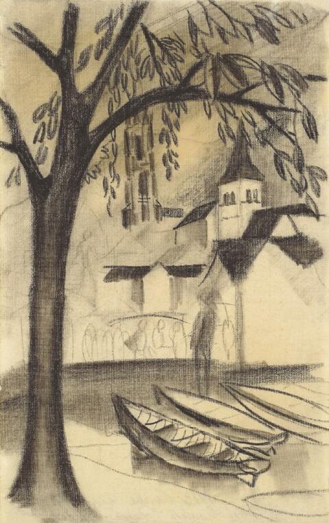 August Macke - Stadt am Wasser