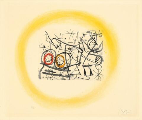 Joan Miró - Préparatifs d'Oiseaux II