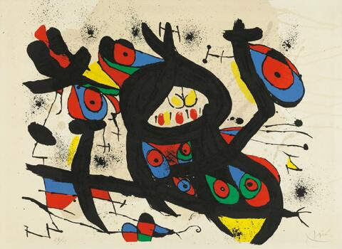 "Joan Miró - Für die Ausstellung ""Miró"" im Casino Knokke-le-Zoute"