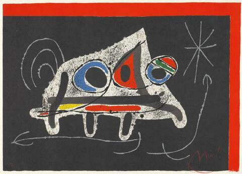 Joan Miró - Zu: Die Eidechse mit den Goldfedern