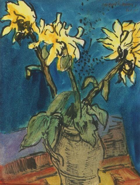 Ernst Mollenhauer - Gelbe Blumen - aus dem Keitumer Tagebuch