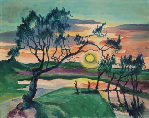 Hermann Max Pechstein - Sonnenuntergang (Leba)