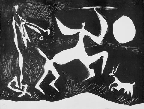 Pablo Picasso - Centaure dansant, fond noir