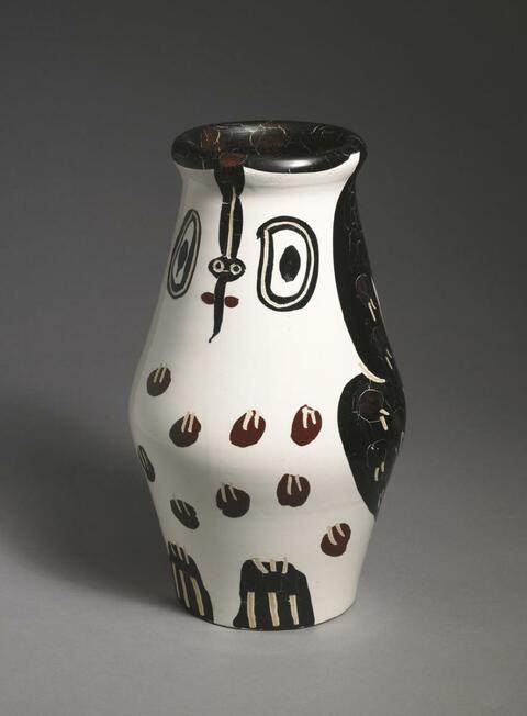 Pablo Picasso - Hibou marron noir