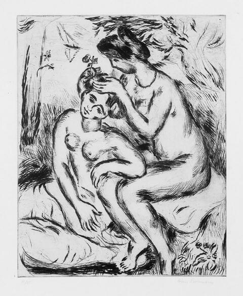 Hans Purrmann - Zwei Mädchen nach dem Bade