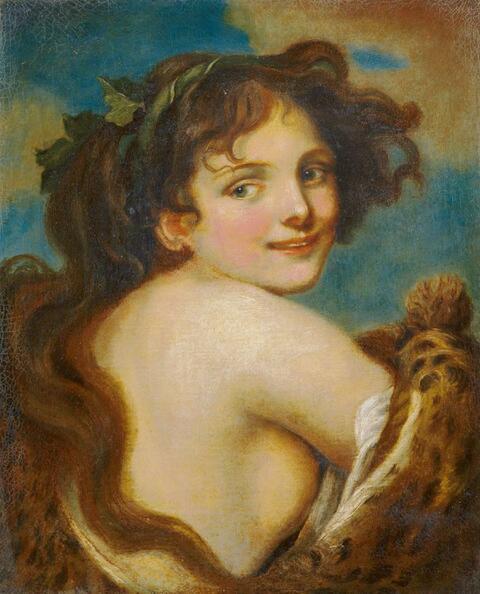 Jean-Baptiste Greuze, Werkstatt - JUGENDLICHE BACCHANTIN.
