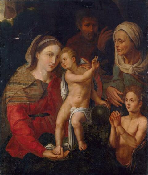 Giovanni Battista di Jacopo di Guasparre, gen. Rosso Fiorentino, Nachfolge - DIE HEILIGE FAMILIE MIT DER HEILIGEN ELISABETH UND DEM JOHANNESKNABEN.