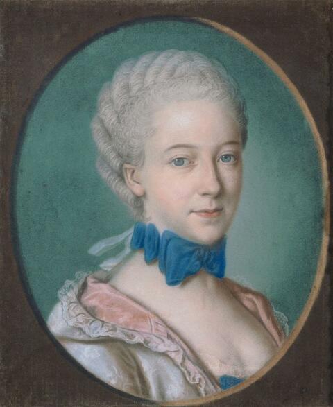 Jean Etienne Liotard, in der Art - BILDNIS EINER JUNGEN DAME.