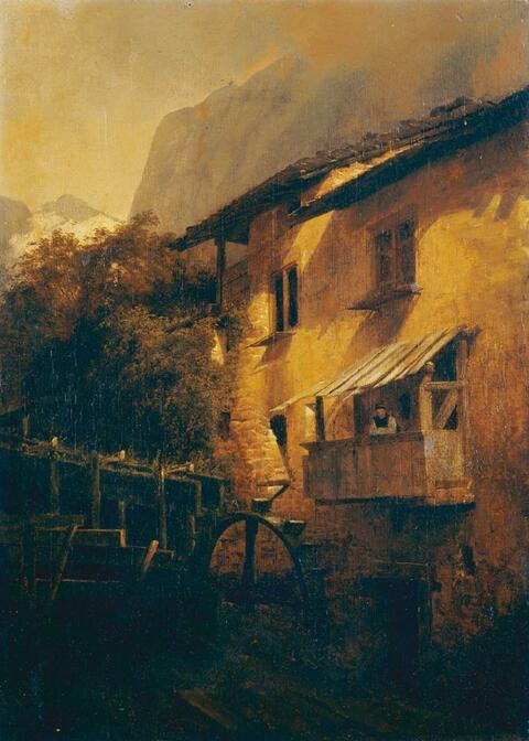 Andreas Achenbach, zugeschrieben - WASSERMÜHLE IM GEBIRGE.