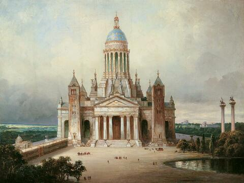 Karl Friedrich Schinkel, Umkreis - ARCHITEKTURPHANTASIE.