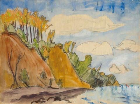 Erich Heckel - Herbst am Strand