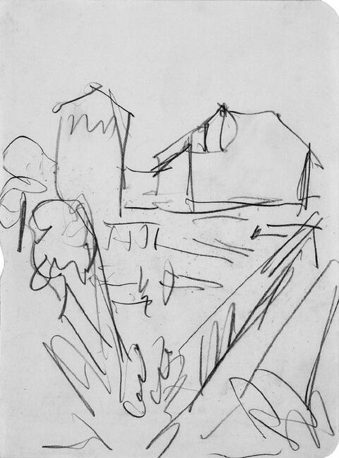Ernst Ludwig Kirchner - Ohne Titel (Häuser mit Weg)