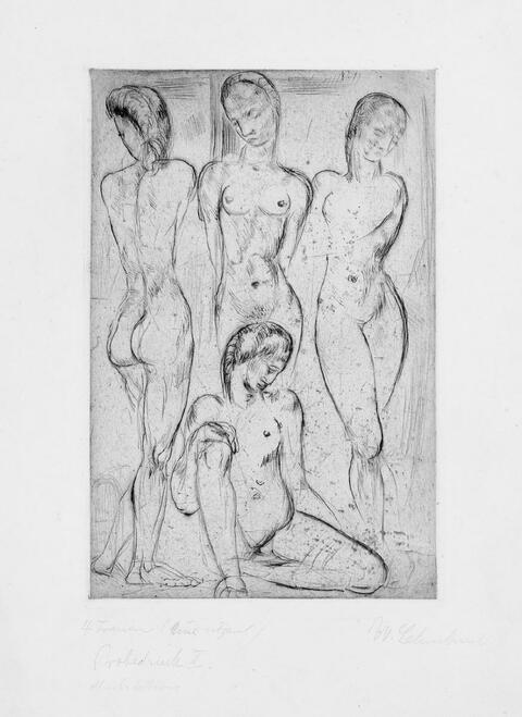 Wilhelm Lehmbruck - Vier Frauen (drei stehend, eine sitzend)