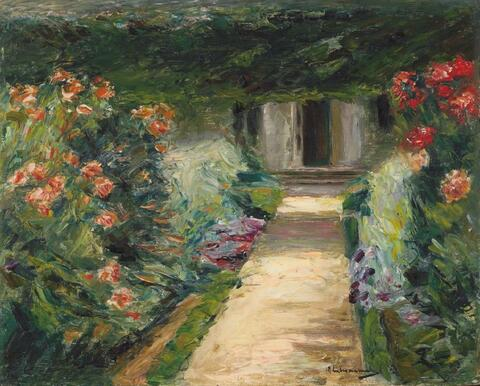 Max Liebermann - Der Nutzgarten nach Nordosten - Blumenstauden