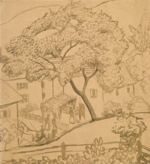 August Macke - Baum am Hang in Tegernsee
