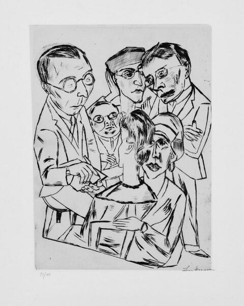 Max Beckmann - Der Zeichner in Gesellschaft