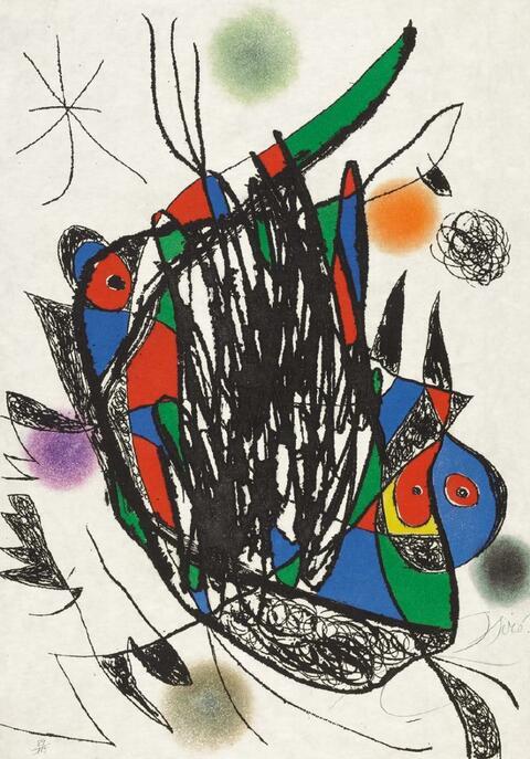 Joan Miró - Passage de L'Égyptienne, 12