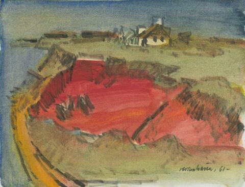 Ernst Mollenhauer - Rotes Kliff auf Sylt