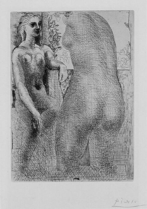 Pablo Picasso - Marie-Thérèse regardant son corps sculpté