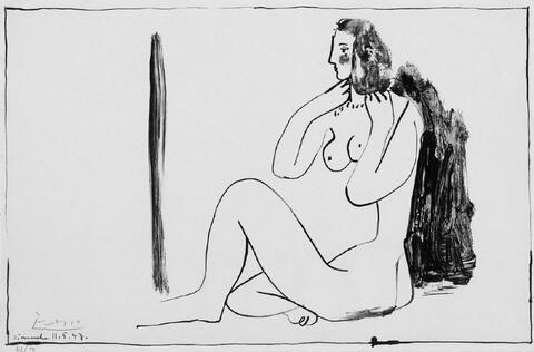 Pablo Picasso - Petite Nu assis au Miroir